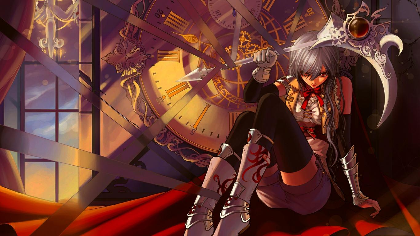 Hd wallpaper anime girl death scythe 1570 - Anime scythe wallpaper ...